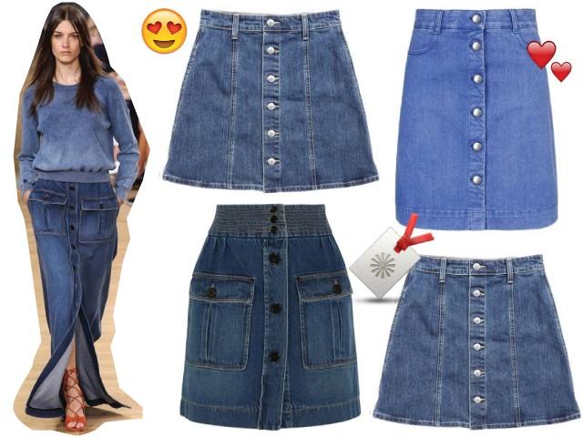 ba91ca67b faldas jeans a la moda